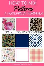 Pattern Mixing Awesome Mixing Fabric Patterns DIY Decor Mom Pinterest Fabric Patterns