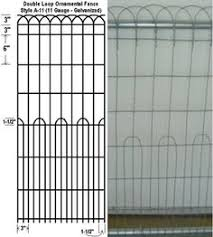 decorative wire garden fence. Double Loop Ornamental - Style American Fence In Georgetown Ft. Decorative Wire Garden Fence
