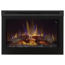 dimplex 26 in w 5 118 btu black wood veneer fan forced electric fireplace