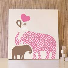 elephant canvas wall art baby and mommy elephant canvas pink brown kids wall art nursery children room on canvas wall art childrens rooms with wall art designs elephant canvas wall art baby and mommy elephant
