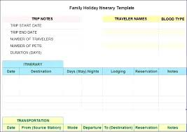 Test Case Template Excel Itinerary Templates Travel Vacation Trip ...