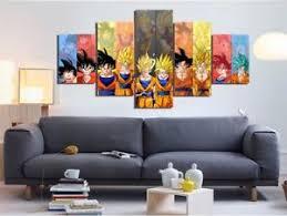 Dragon Ball Z Decorations canvas 100 panel Goku Evolution Dragon Ball Z Painting Printed wall 23