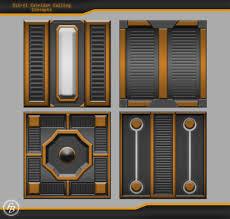 sci fi ceiling texture. Frankie Boyle Ceiling Concept 01 Sci Fi Texture