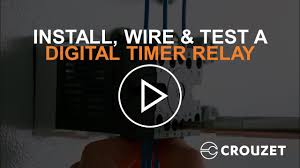 how to install, wire & test a digital timer relay (syr line) youtube Wiring Diagram Symbols at Crouzet Mur1 Wiring Diagram