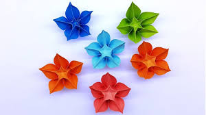 Paper Origami Flower Making Carambola Flower Making Easy Origami Tutorial Diy Paper Crafts