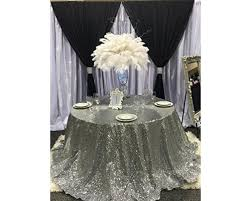 shinybeauty sequin tablecloth 90 round silver sequin fabric party decoration event round table linens piewjlwlq