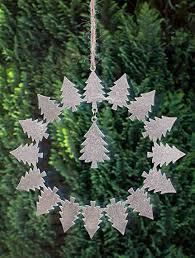B2s Back2season Metall Kranz Tanne Advent Weihnachten Fensterdeko Fensterhänger Fensterkranz Türdeko Baum Tannenbaum Fensterschmuck Deko Wandkranz