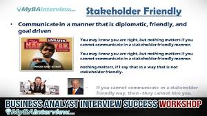 business analyst interview workshop what is the interviewer business analyst interview workshop what is the interviewer looking for video 3 of 6
