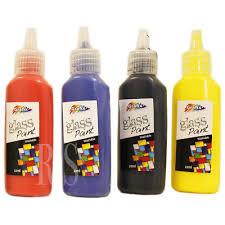 4 vibrant colour glass paint set painting kit stained transpa opaque paints