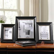 Black Wooden Frame for Photos Frames Wood Cheap Modern Wall Photo