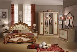 italian bed set furniture. silvia beige and god finish bedroom furniture italian bed set
