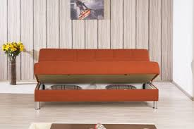 Orange Pull Out Sofa Bed With Storage Comfortable The Kienandsweet