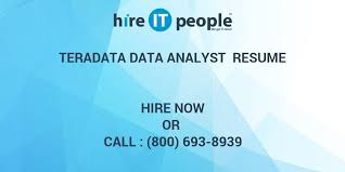 Teradata Data Analyst Resume Hire IT People We Get IT Done Stunning Teradata Resume Sample
