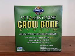 vitamin code grow bone system kit with raw calcium 210 capsules garden of life