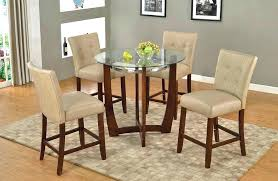 round counter height dining table room with storage leaf