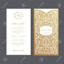 Invitation Envelope Template Luxury Wedding Invitation Or Greeting Card With Vintage Floral