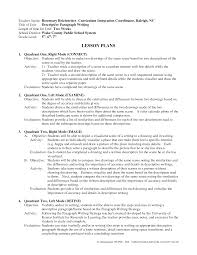 how to write a lesson planworld of writings world of writings descriptive writing lesson plan doc by jkq50851 iq10y1eq