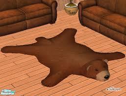 faux teddy bear skin rug