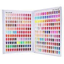 Diy Paint Color Chart 308 Nail Color Chart Display Nail Uv Gel Polish Swatch Book Nail Painting Practice Design Board Fake Tips Nails Sample Display Nail Art For Nail
