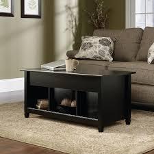 black lift top coffee table edge