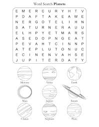 Word Search Puzzle Planets   Download Free Word Search Puzzle ...