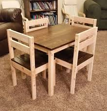 kids wooden table and chairs for 56 kid sized mighty my size set designs 8