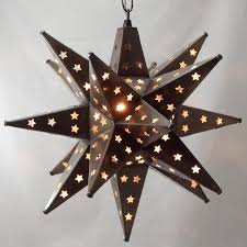 adorable moravian star light moravian star light star pierced tin bronze 15