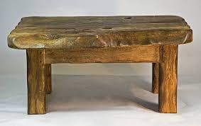 rustic handmade small wooden coffee table by kwetu