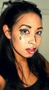 roy lichtenstein inspired pop art makeup