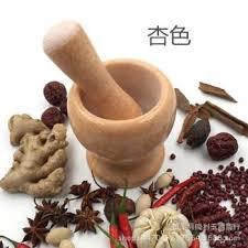 custom made garlic rammer jars natural white marble stone
