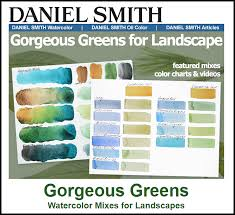 Daniel Smith Watercolor Dot Chart Mixing Watercolor Landscape Greens With Daniel Smith