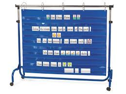 Chair Storage Pocket Chart Extra Wide Adjustable Pocket Chart Stand Cafe On Wheels