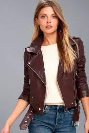 rebel with a cause plum purple vegan leather moto jacket