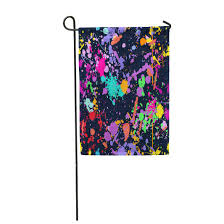 Garden Design Spray Paint Amazon Com Semtomn Garden Flag Colorful Abstract Color