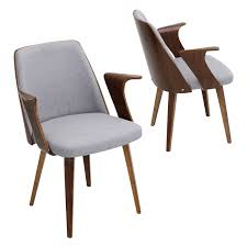 fabric dining room chairs luxury verdana mid century modern dining accent chair in walnut wood and