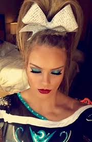 best cheerleader makeup and hair for you wink and a smile