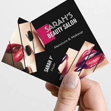 makeup business cards designs fashionable makeup lips beauty salon boutique business card template