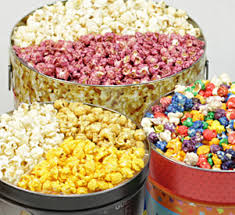blend your own flavored popcorn tins