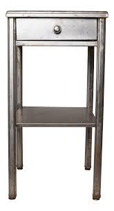 vintage industrial simmons metal side table. Exceptional 1930s Industrial Hotel Side Table By The Simmons Manufacturing Co | DECASO Vintage Metal P