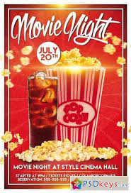 Free Movie Night Flyer Templates Movie Night Psd Flyer Template 2 Facebook Cover Free