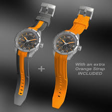 orange swiss sport watch wryst ultimate es50 for men limited edition brushed stainless swiss watch for men orange swiss sport