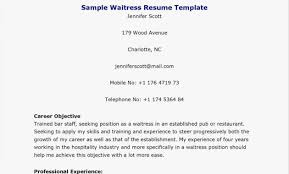 Waitress Responsibilities Resume Samples | Friends And Relatives ...