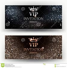 Elegant Invitation Cards Vip Elegant Invitation Cards With Abstract Background Stock