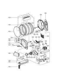 Electric motor parts diagram drum and motor parts assembly diagram