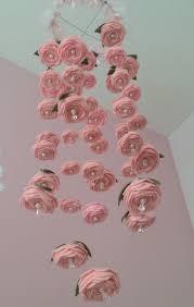 Paper Flower Mobiles Felt Rose Baby Mobile Felt Roses Felt Flowers Flower Mobile