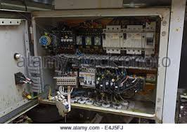 old electrical installation fuse box stock photo royalty energy an image showing an old electrical box rccb components and wiring the box has
