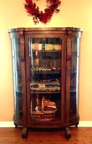 antique oak china cabinet curved glass curved glass china cabinets curved glass china cabinet antique china