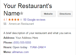 Make A Menu For A Restaurant Tips For Making Your Restaurant Stand Out On Google