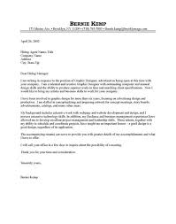 Graphic Design Cover Letter Sample Pdf New Cover Letter For A