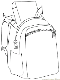 Small Picture Backpack Coloring Pages